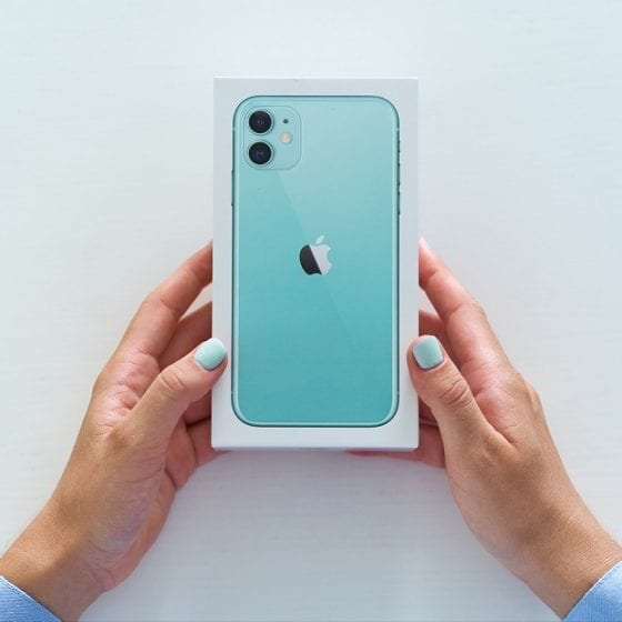 iPhone Box in mint gruen
